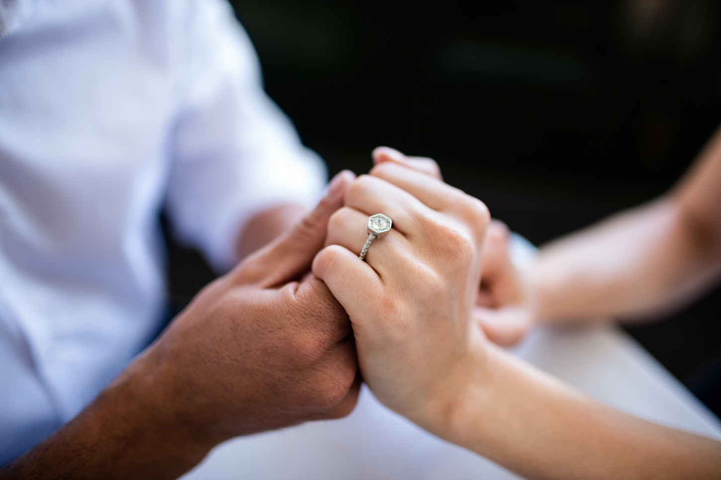 Image result for engagement ring couple hands